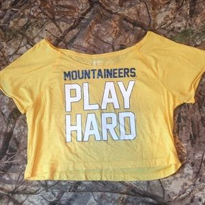 Victoria's Secret PINK wvu mountaineers crop top